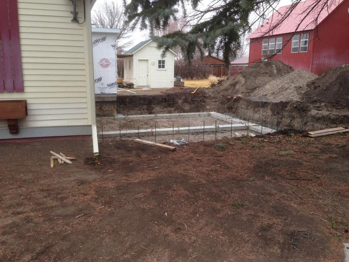 concrete footings with rebar