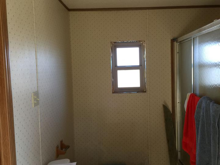 Existing wall paneling