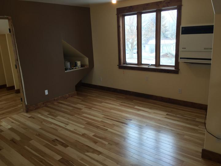 wood floor and new paint