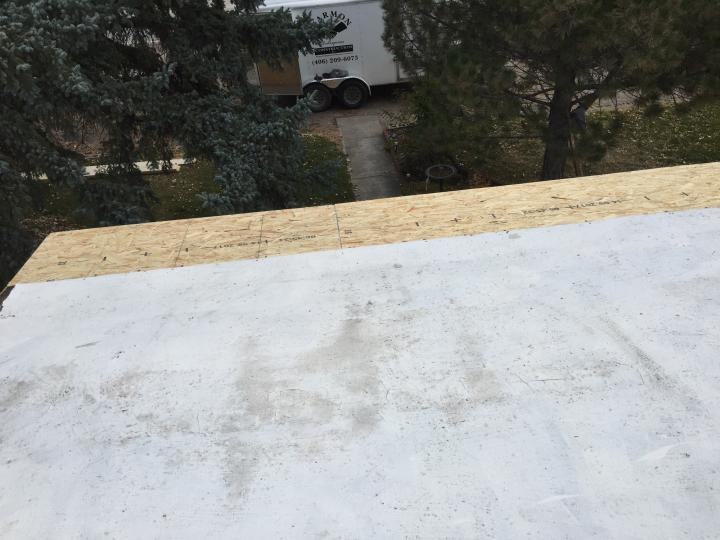 water damaged roof repair and dry in