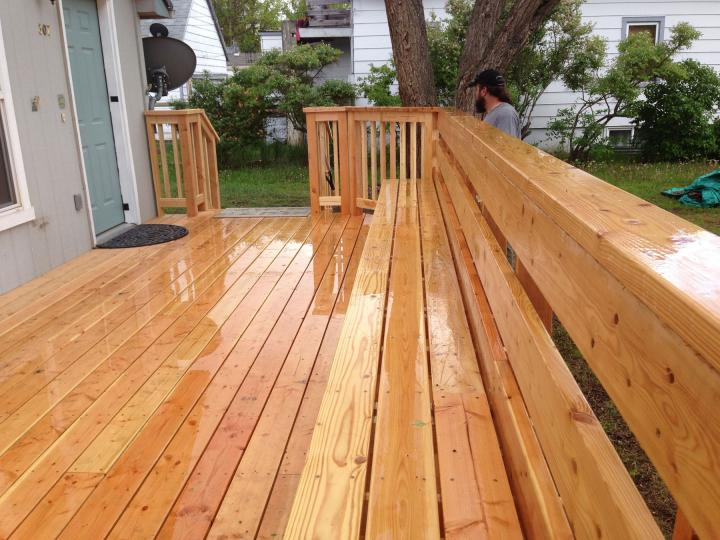 New deck with built in benches