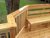 New Deck with Built in Bench